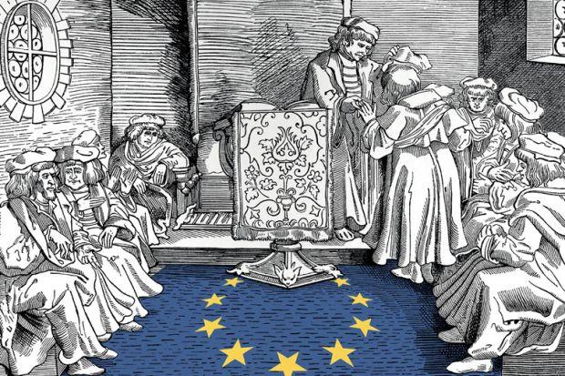 People discussing European Union (EU)