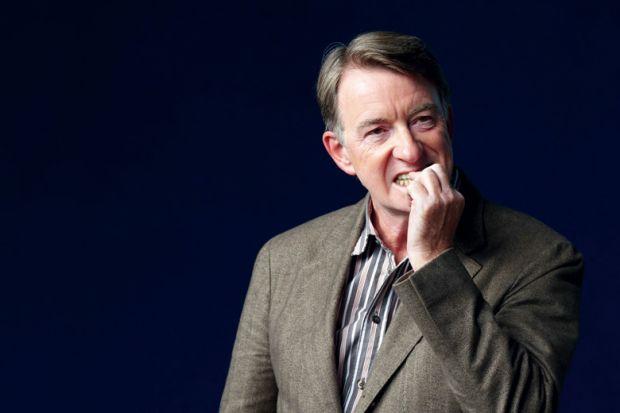 Peter Mandelson biting nails