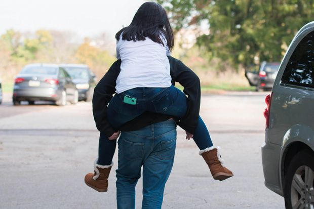 Someone giving someone a piggyback