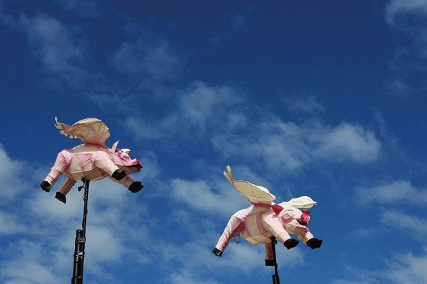 Models of flying pigs