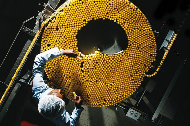 Pills in a factory