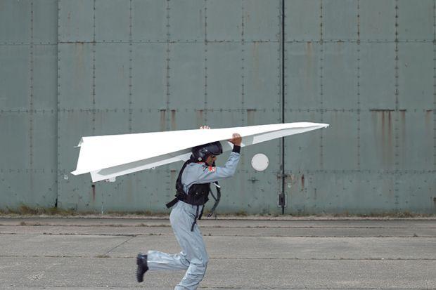 Giant paper plane
