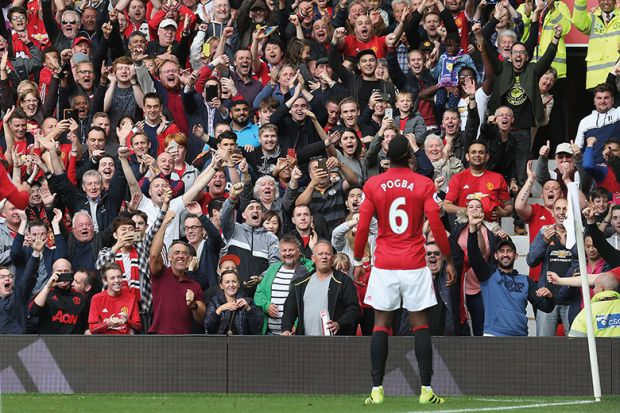 Pogba faces football fans