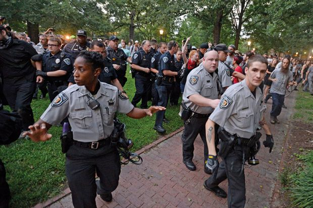 US campus police up their game in response to mounting threats