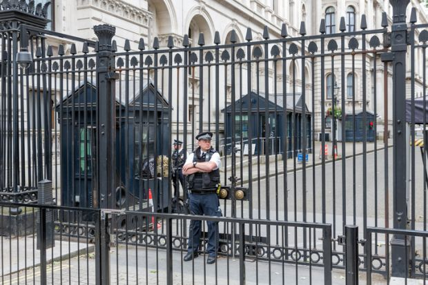 Police in Downing Street