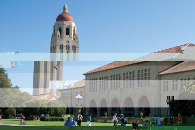 5b5b9ca29ead Poorly-downloaded photo of Stanford University s Hoover Tower