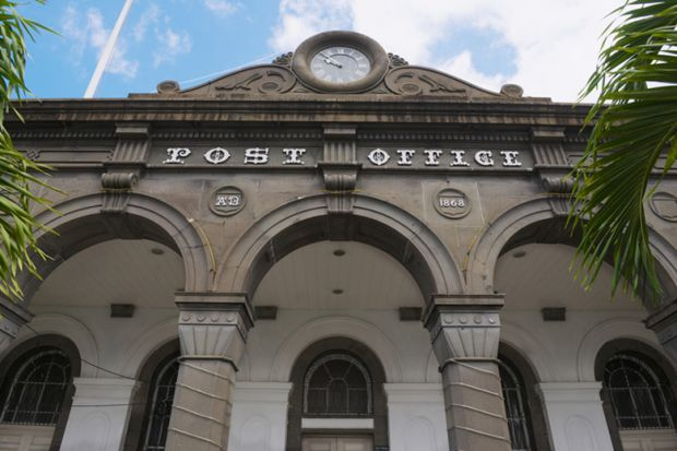 Post office building in Port Louis, Mauritius