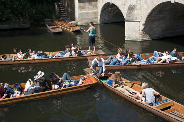 punts on river