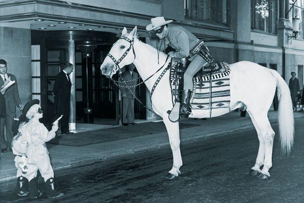 Lone ranger on horse