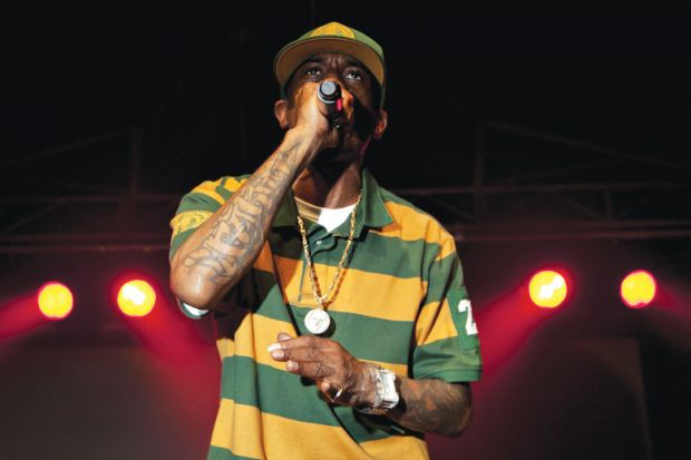 Rapper Rakim performing live onstage, Bologna, Italy, 2011