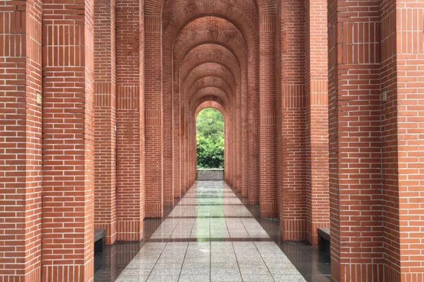 Redbrick university archways