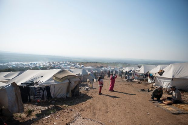Refugee camp in Syria (2013)