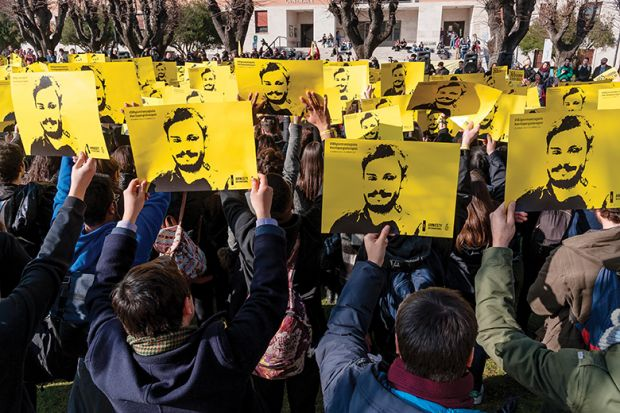 Giulio Regeni, a PhD candidate at the University of Cambridge, was abducted and murdered in Egypt in 2016