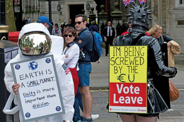 Remain and Leave Brexit campaigners
