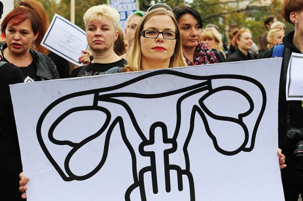 Reproductive rights protester