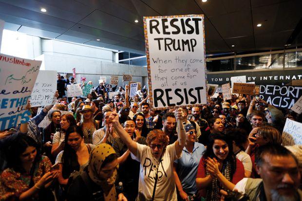 Resist Trump protesters