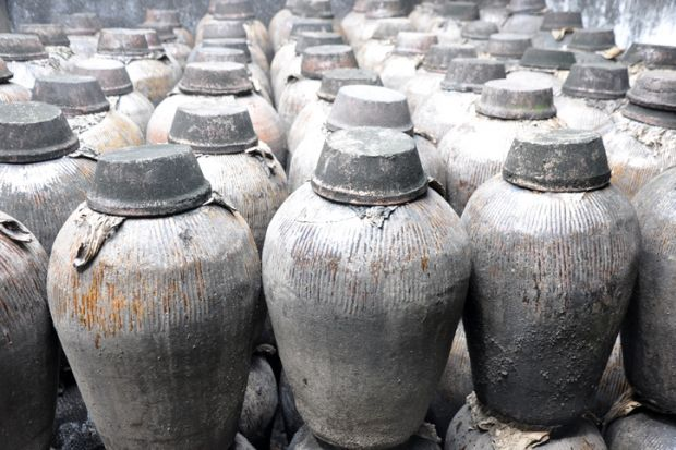 Rice wine containers