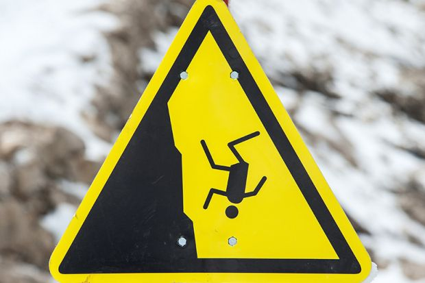 Risk of fall warning sign