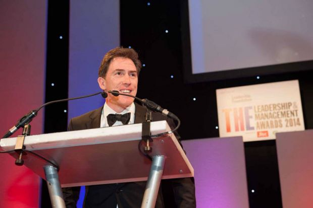 Rob Brydon: THE Leadership and Management Awards 2014 winners