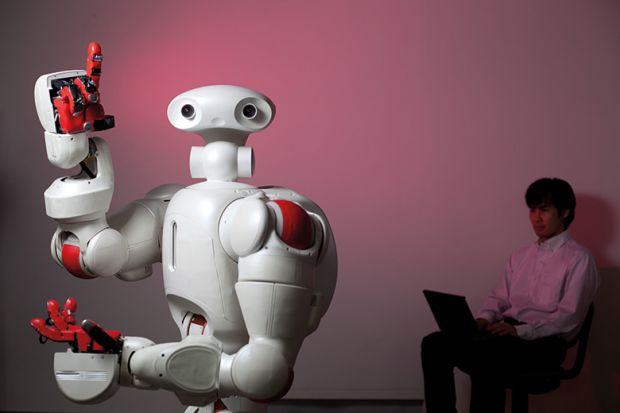 Robot with an idea
