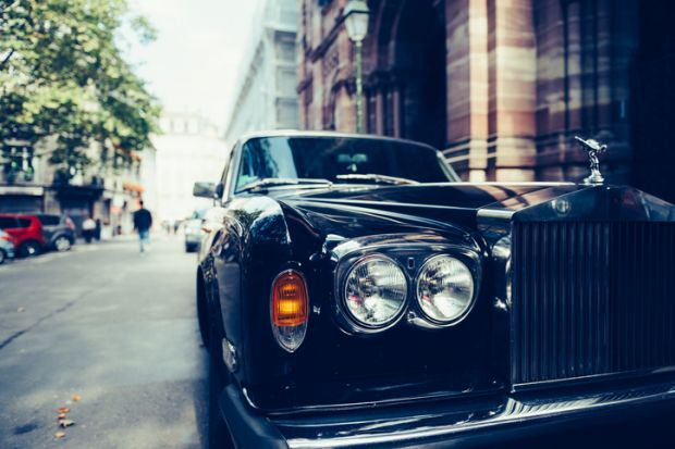 Rolls-Royce on street