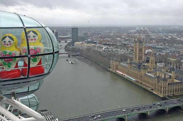 Russian dolls in London Eye