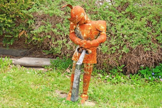 A rusty knight
