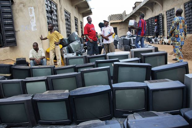 Televisions on a street