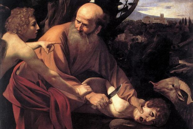 Sacrifice of Isaac, by Caravaggio (1603)