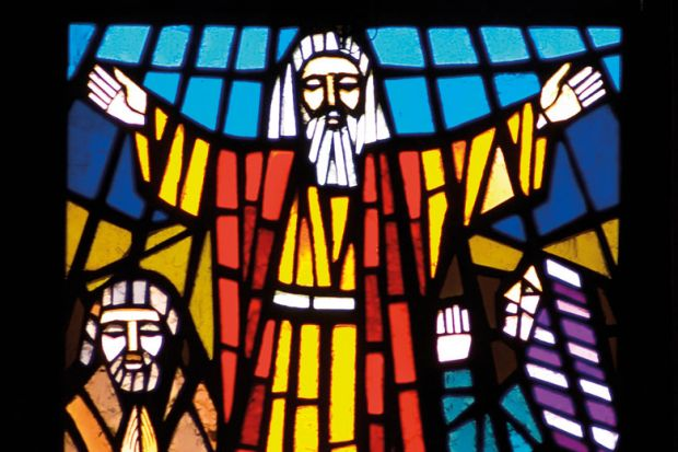 stained glass moses