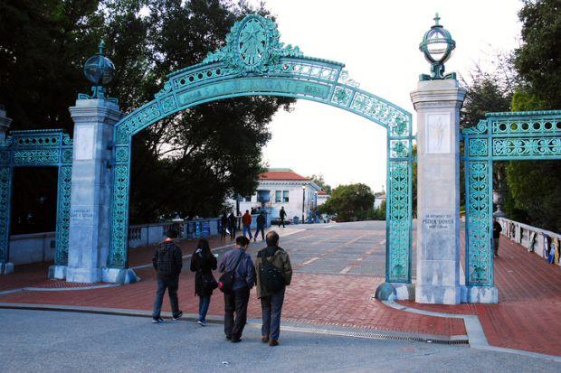 Sather Gates at Sproul Plaza, UC Berkeley