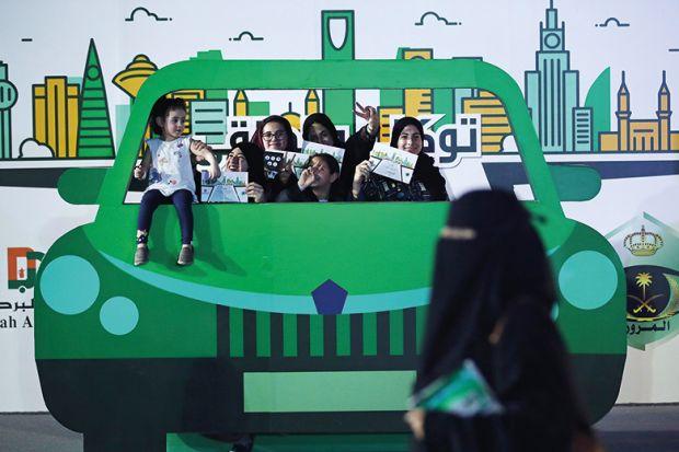 Saudi women driving