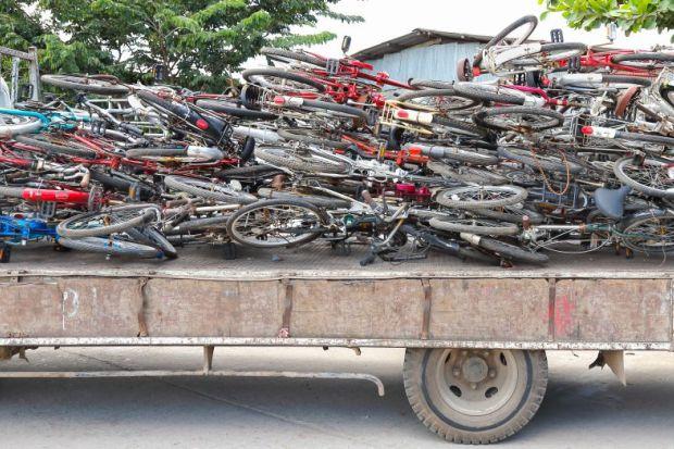 Scrapped bikes