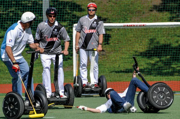 Segway Polo World Cup, Stockholm, 2012, illustrating innovation, THE World Academic Summit