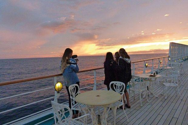 semester at sea on deck