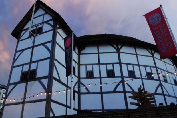 Shakespeares Globe Theatre at sunset