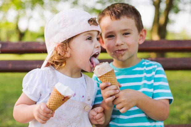 Sharing ice cream
