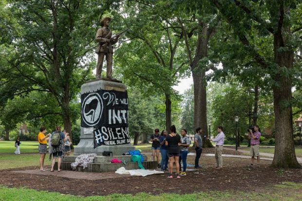 Silent Sam statue UNC at Chapel Hill