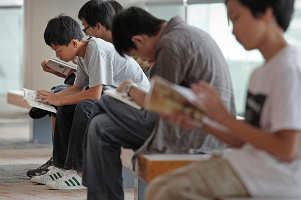Singaporean children reading