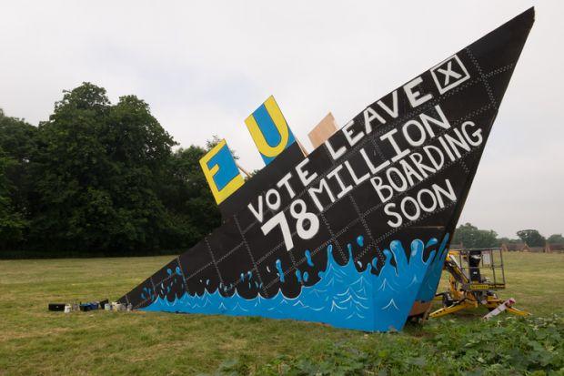 Sinking EU ship