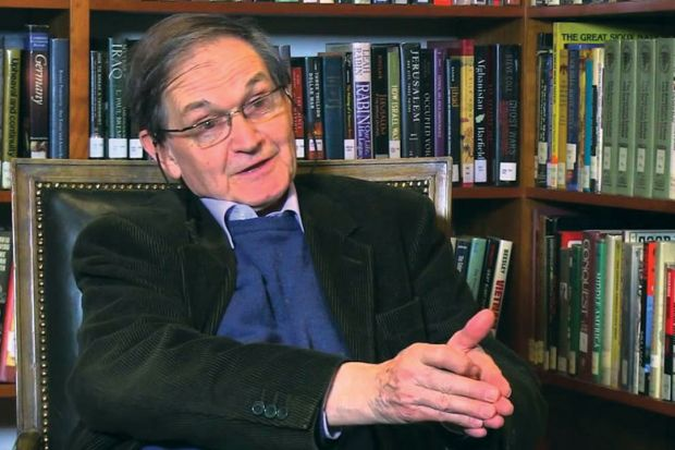 Sir Roger Penrose speaking during video interview