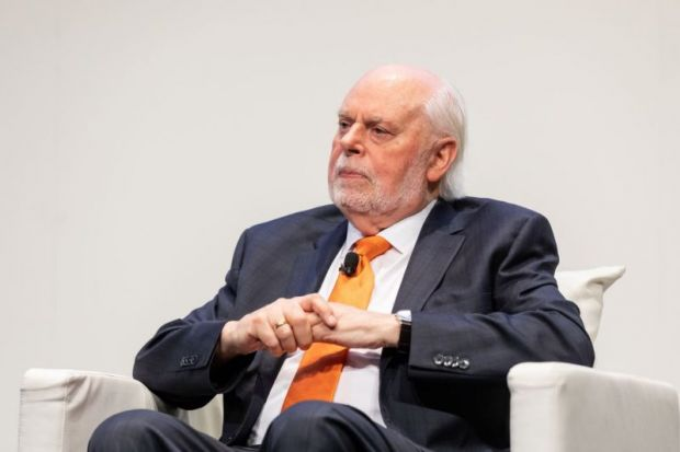 Sir Fraser Stoddart at THE Research Excellence Summit Asia Pacific UNSW Sydney February 2019 pic Jacquie Manning