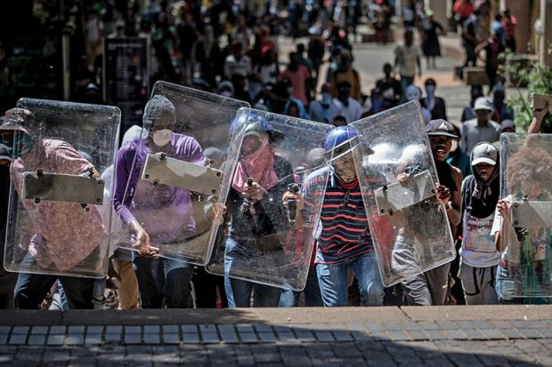 South Africa protesters