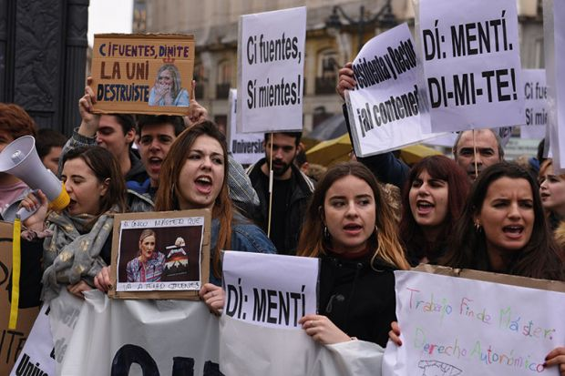 spanish-student-protest