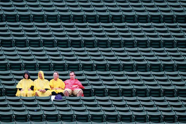 nearly empty stadium
