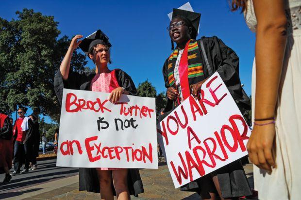 Stanford University students in solidarity for Brock Turner rape victim