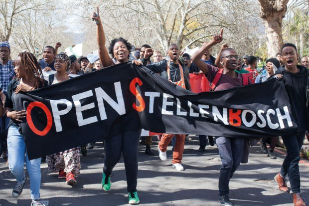 Stellenbosch University anti-xenophobia demonstration, Cape Town, South Africa, 2015