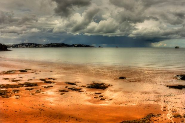A storm in Torbay