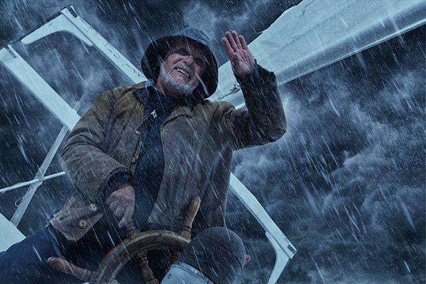 Steering ship in storm