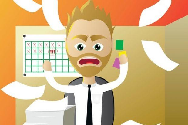 Stressed admissions tutor